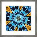 Kaleidoscope Canoes Framed Print