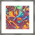Kaleidoscope K Framed Print