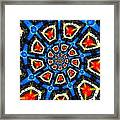 Kaleidoscope Of Primary Colors Framed Print by Amy Cicconi