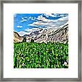 Kashmir Field Framed Print