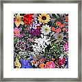 Kathy's Flowers Collage Framed Print