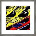 Kayaks Ashore Framed Print
