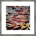 Kayaks At Rockport Framed Print