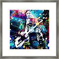 Keith Richards Framed Print by Rosalina Atanasova