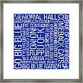 Kentucky College Colors Subway Art Framed Print by Replay Photos
