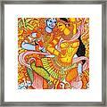 Kerala Fresco Mural Framed Print
