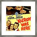Kilroy Was Here, Us Poster, Jackie Framed Print