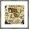 Kingdoms Of Magic Battle Map Framed Print
