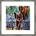 Kiss After The Rain - Palette Knife Oil Painting On Canvas By Leonid Afremov Framed Print