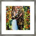 Kiss In The Woods Framed Print