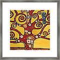 Klimt Study Tree Of Life Framed Print