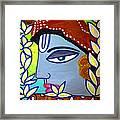Krishna Playing Flute Framed Print