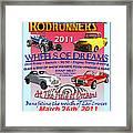 L C Rodrunner Car Show Poster Framed Print
