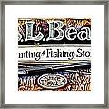 L. L. Bean Hunting And Fishing Store Since 1912 Framed Print