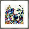 Labrador Retriever Art - Play With Me - By Sharon Cummings Framed Print