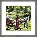 Ladies In The Meadow Framed Print