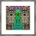 Lady Bear In The Jungle Framed Print