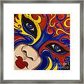 Lady Of Fire And Ice Framed Print