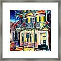 Lafitte Guest House At Christmas Framed Print