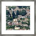 Lake Como Houses Framed Print