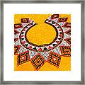Lakota Souix Dance Collar Framed Print