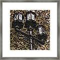 Lamp Post In The Fall Framed Print