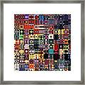 Larg Blocks Digital - Various Colors I Framed Print