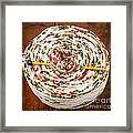 Large Ball Of Colorful Yarn Framed Print