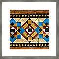 Large Mosaic Floor Tiles Framed Print