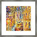 Last Trolley - Palette Knife Oil Painting On Canvas By Leonid Afremov Framed Print