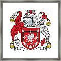 Lauder Coat Of Arms Irish Framed Print