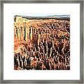Layered Hoodoos At Bryce Canyon National Park Framed Print