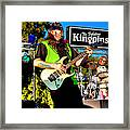 Lead Guitarist Jimmy Dence - The Fabulous Kingpins Framed Print