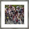 Leading The Race Framed Print