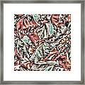 Leaves Abstraction II Framed Print
