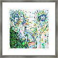 Led Zeppelin - Watercolor Portrait.2 Framed Print