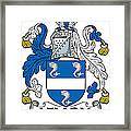 Lemon Coat Of Arms Irish Framed Print
