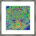 Leopard Eyes Green Framed Print