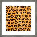 Leopard Print Hand Painted Leopard Print  Framed Print