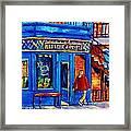 Les Belles Soeurs  Montreal Restaurant Plateau Mont Royal Painting By Carole Spandau Framed Print