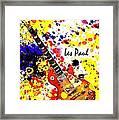 Les Paul Retro Framed Print
