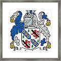 Leslie Coat Of Arms Irish Framed Print