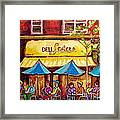 Lester's Deli Montreal Smoked Meat Paris Style French Cafe Paintings Carole Spandau Framed Print