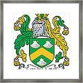 Levinge Coat Of Arms Irish Framed Print