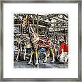 Levitating Giraffe Framed Print