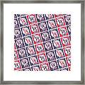 Liberty Stamps Collage Framed Print