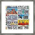 Licence Plates Framed Print