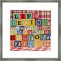 Life Begins At The End Of Your Comfort Zone  Framed Print