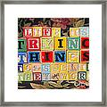 Life Is Trying Things To See If They Work Framed Print