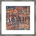 Life Letters Two Framed Print